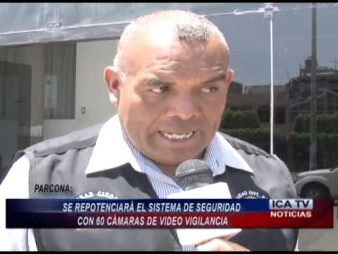 REPOTENCIARAN CON NUEVAS CÁMARAS DE SEGURIDAD EN PARCONA