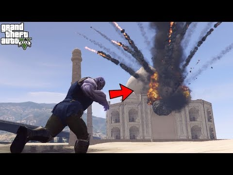 THANOS DESTROYED TAJ MAHAL- GTA 5 😱