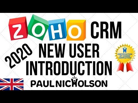Zoho CRM New User Full Training Beginner Tutorial 2020 - YouTube