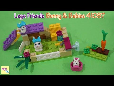 Vidéo LEGO Friends 41087 : Les bébés lapins et leur maman