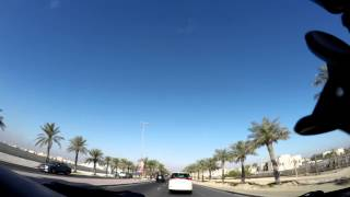 preview picture of video 'Time Lapse car trip from East Riffa to Seef Area in Bahrain'