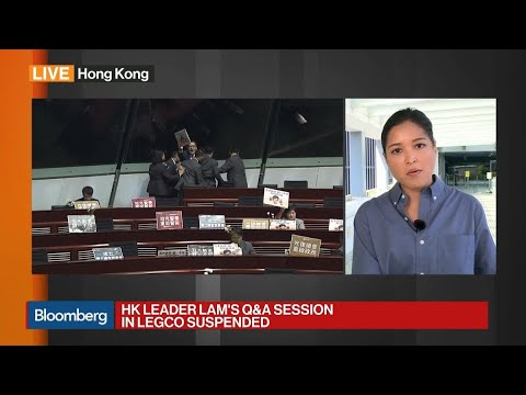 HK Leader Lam's Q&A Session in Legco Suspended