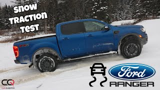 Ford Ranger 4x4 snow traction test : 2WD, 4WD, Diff Lock and Terrain Management system!