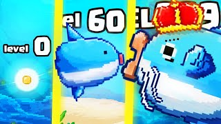 IS THIS THE HIGHEST LEVEL STRONGEST MOLA FISH EVOLUTION? (9999+ KING LEVEL) l Survive! Mola mola!