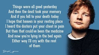 Ed Sheeran - Afire Love (Lyrics)