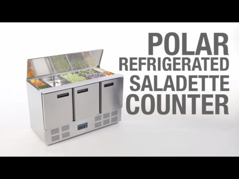 Video Polar RVS saladette - G607 - 3 deuren