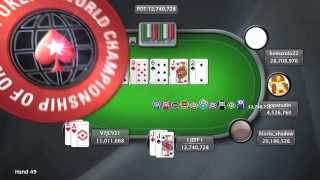 Highlights of Event #4 of the World Championship of Online Poker