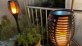 XZN Solar LED Gartenleuchten Wasserdicht Realistische Fackel Flammeneffekt unboxing und Anleitung