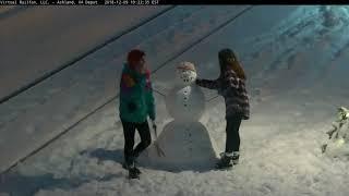 Surprise Snowmen Built Just for Virtual Railfan Viewers