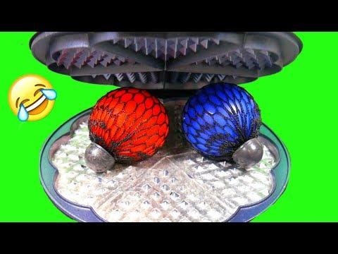 Waffeleisen VS Anti Stress Ball - EXPERIMENTE