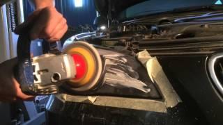 Полировка фар BMW 5 e60
