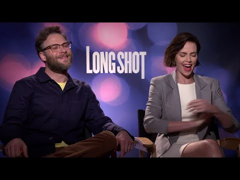"""Charlize Theron and Seth Rogen say the secret to accomplishing their """"Long Shot"""" sex scenes were the jokes. (May 1)"""