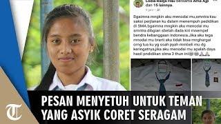 Teman-Temanya yang Lain Asyik Coret Baju dan Konvoi, Gadis Ini Tak Ingin Nodai Saksi Perjalanannya