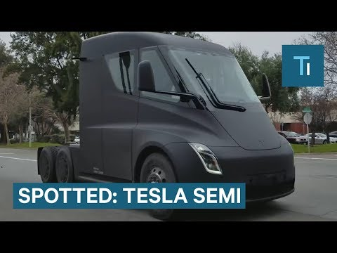A Tesla Semi Was Spotted On A Public Road — Here's An Update On The Truck