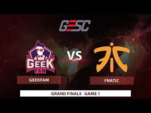 Geek Fam vs Fnatic | Game 1 | GESC E-Series: Jakarta SEA