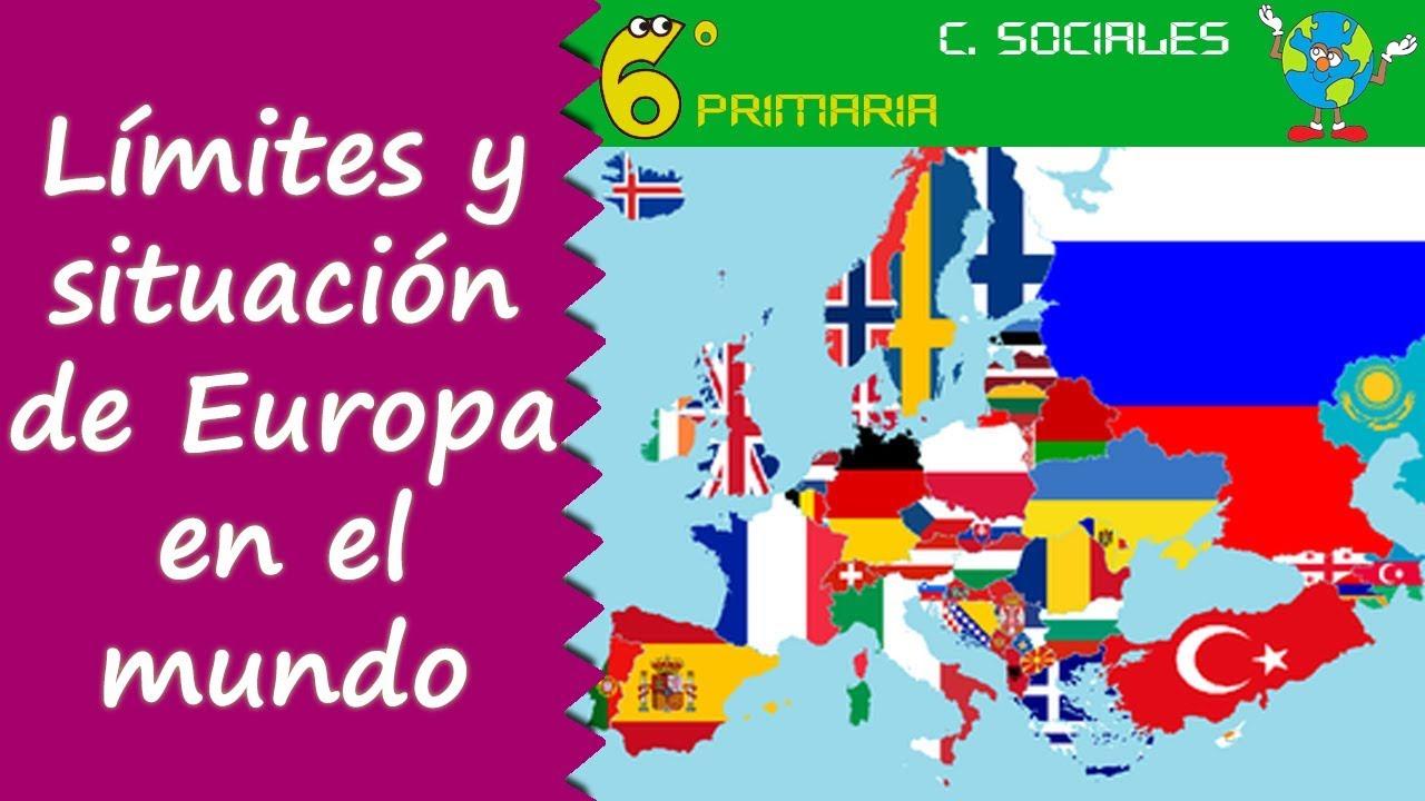 Límites y situación de Europa en el mundo. Sociales, 6º Primaria