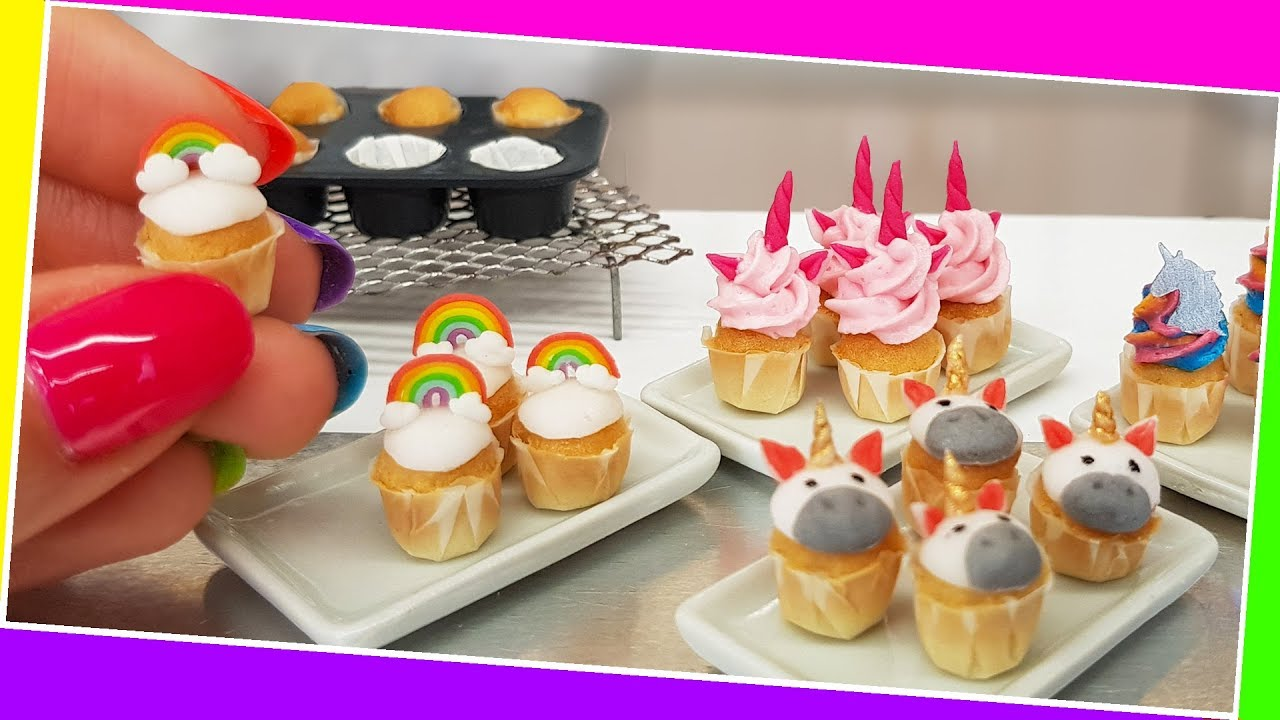 Amazing mini UNICORN cupcakes