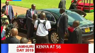Ruto arrives at Nyayo national stadium for 56th jamhuri day celebrations