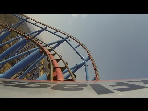 Superman El Ultimo Escape Roller Coaster POV Six Flags Mexico