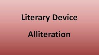 Alliteration (Literary Device)