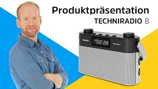 TECHNIRADIO 8   Portables DAB+/UKW-Stereoradio mit Sprachansagen.   TechniSat