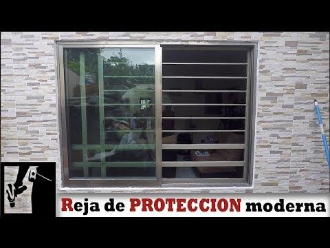 Cómo hacer reja de protección moderna para ventana || Herrería