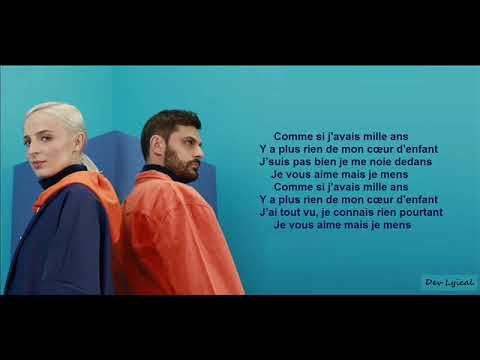 COMME SI J'AVAIS MILLE ANS - Madame Monsieur Ft Kalash Criminel (Paroles/Lyrics)