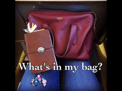 WHAT'S IN MY BAG? – Fossil Sydney Satchel