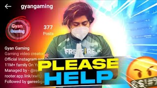 GYAN GAMING CHANNEL HACKED !! CHANNEL DELETED || FREEFIRE || HALF GAMING