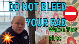How To Bleed A Radiator - Don't try it until you watch this