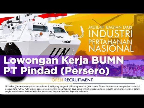 Lowongan Kerja Terbaru BUMN | PT PINDAD (Persero)