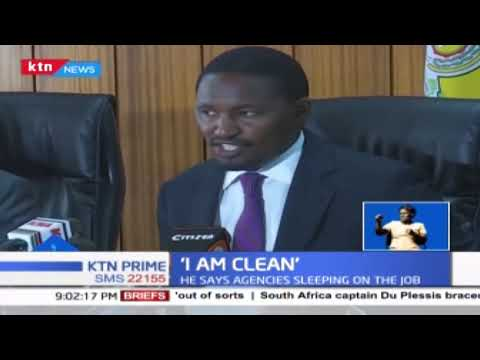 Mwangi Kiunjuri is blaming investigative agencies for sleeping on the job over the maize scandal