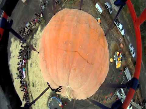 544kg Pumpkin Dropped On An Old Pontiac