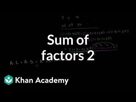 Sum of factors 2 (video)   2003 AIME   Khan Academy