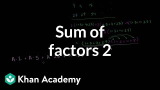 Sum of factors 2