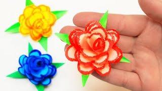 Красивый цветок из бумаги для подарка на 8 марта своими руками