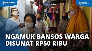 Mensos Risma Ngamuk Bansos Warga Disunat Rp50 ribu, Diduga Dilakukan Oknum Pendamping
