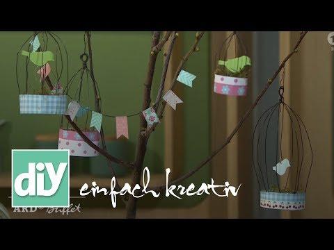 Frühlingshafter Astschmuck   DIY einfach kreativ