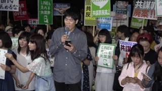 若者憲法集会<br />小泉伊知郎さん