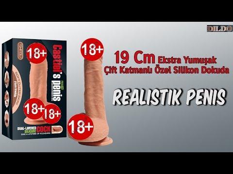 19 Cm Ekstra Yumuşak Çift Katmanlı Özel Silikon Dokuda Realistik Penis