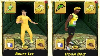Temple Run 2 Pirate Cove Gold Edition: Bruce Lee vs Usain Bolt - Fastest Man On Earth