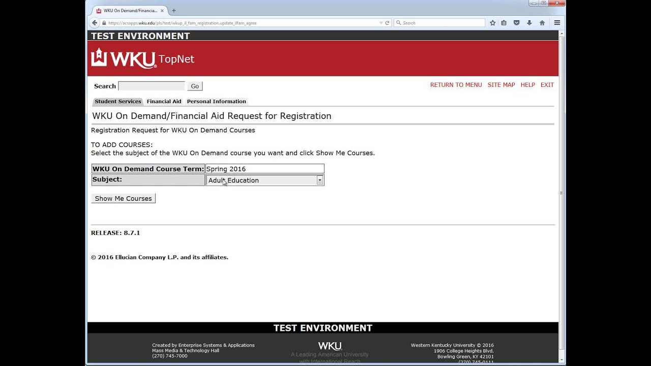 How To: WKU On Demand Financial Aid Form Video Preview