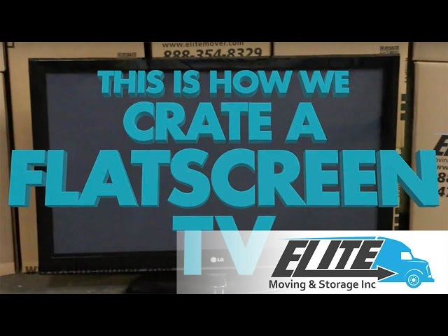 How To Pack A Flat Screen TV When You Are Moving