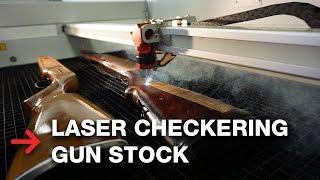 Laser Checkering Gun Stock  Laser Engraving Rifles
