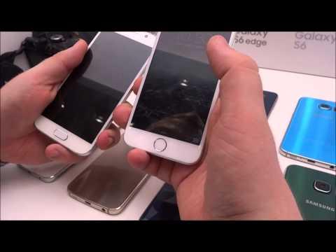 Foto Samsung Galaxy S6 vs Apple iPhone 6