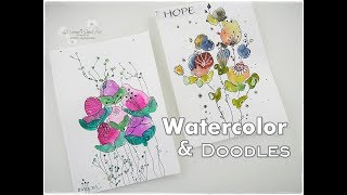 EASY Doodle Flower Painting ♡ Maremis Small Art ♡