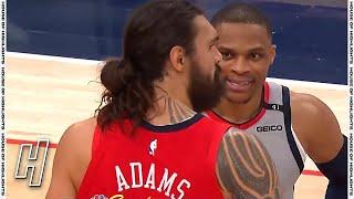 Russell Westbrook & Steven Adams Reunite - Pelicans vs Wizards   April 16, 2021   2020-21 NBA Season