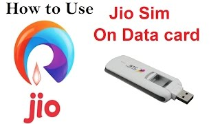 How to use jio sim in USB data card