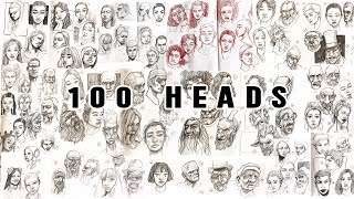 Drawing 100 Heads In 10 Days // 100 Heads Challenge #Meds100Heads