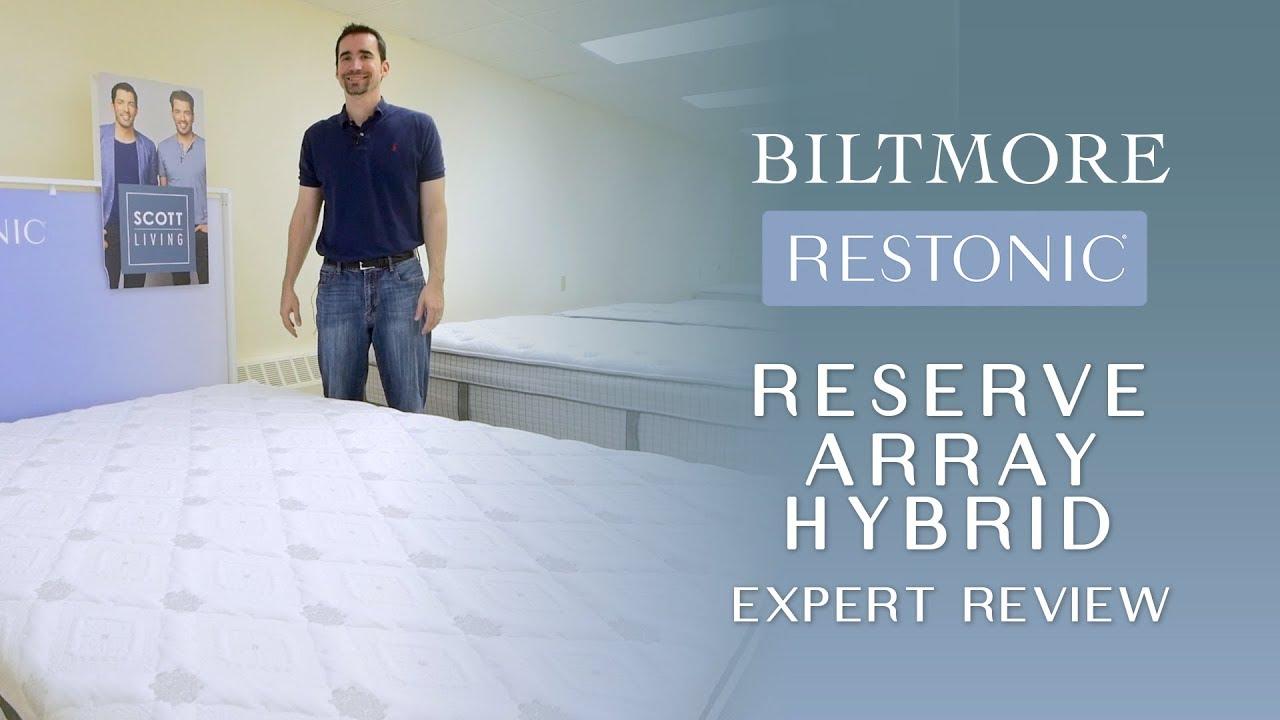 Full Restonic Biltmore Reserve Array Hybrid Mattress